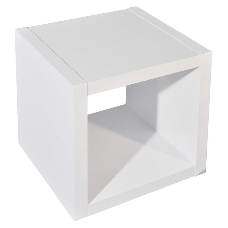 Grace Single Cube Storage Unit High Gloss White