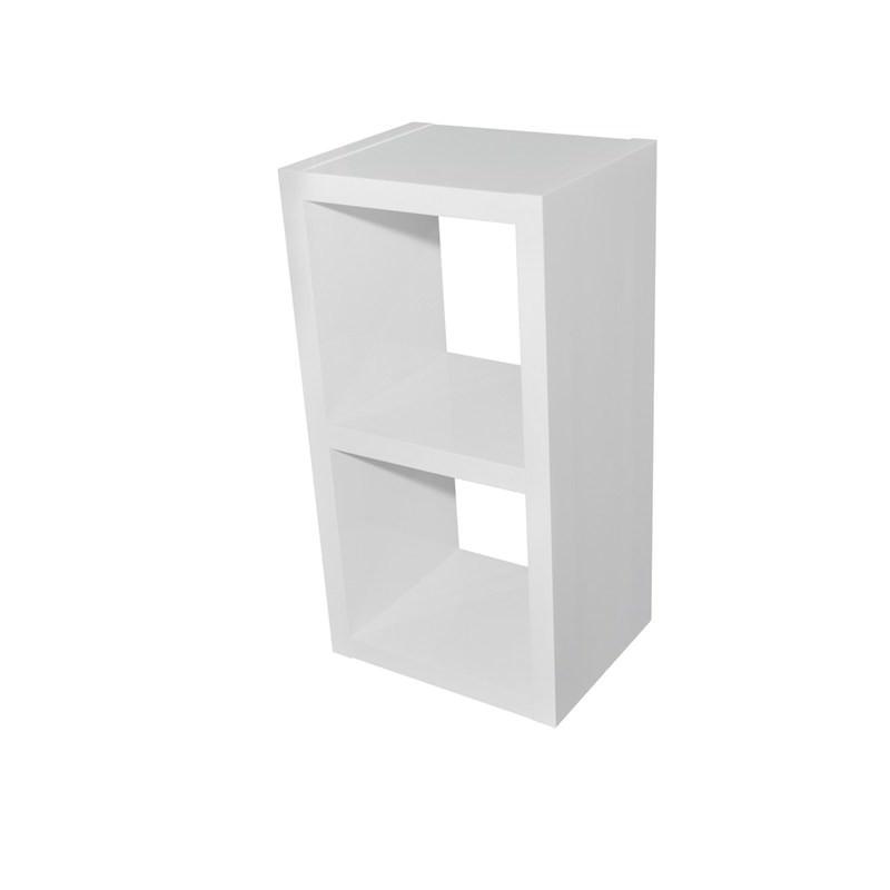 Grace 2 Cube Storage Unit High Gloss White