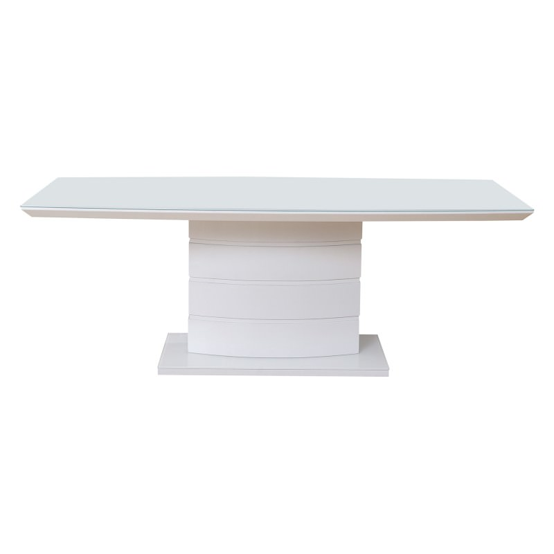 Prima High Gloss Dining Table 210cm White