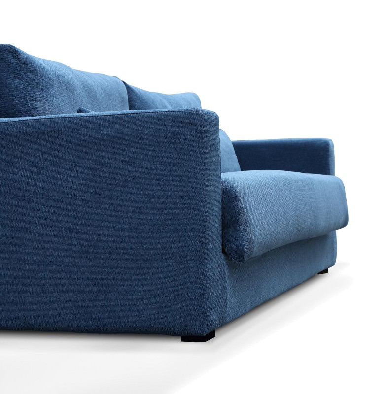 Carmel Fabric Pull Out Sofa Bed, 3 Seater, Blue