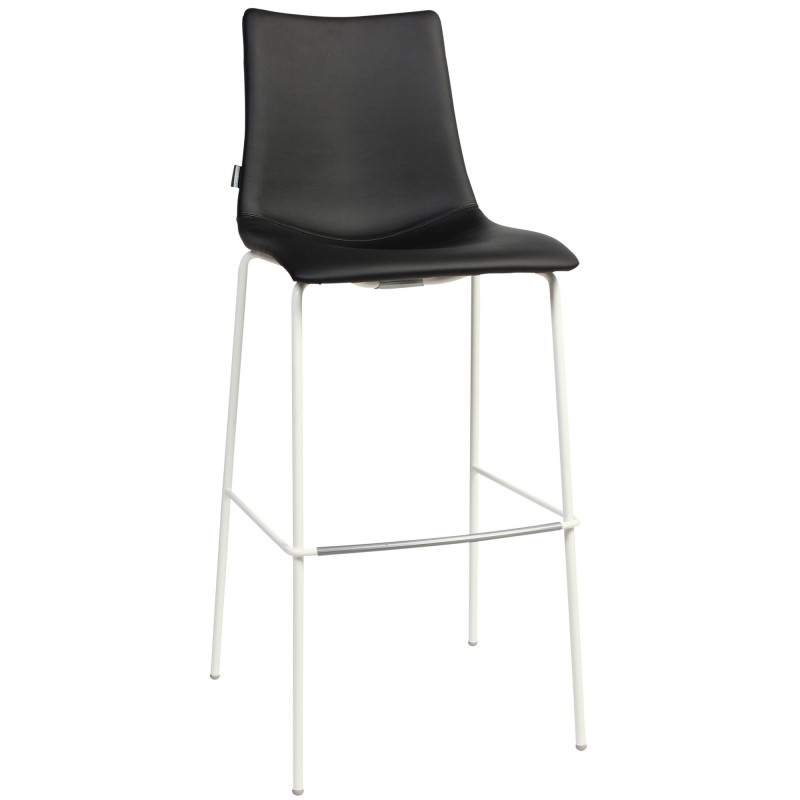 Zebra Pop Italian Made Commercial Grade Vinyl Bar Stool