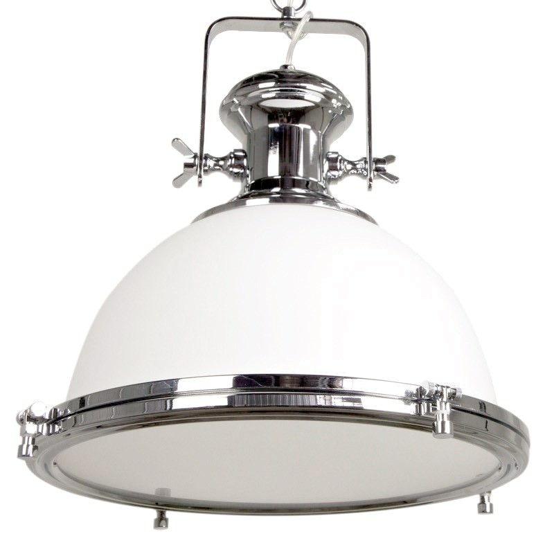 Gaia Industrial Pendant Light: Gaia Industrial Pendant Light With Translucent Shade