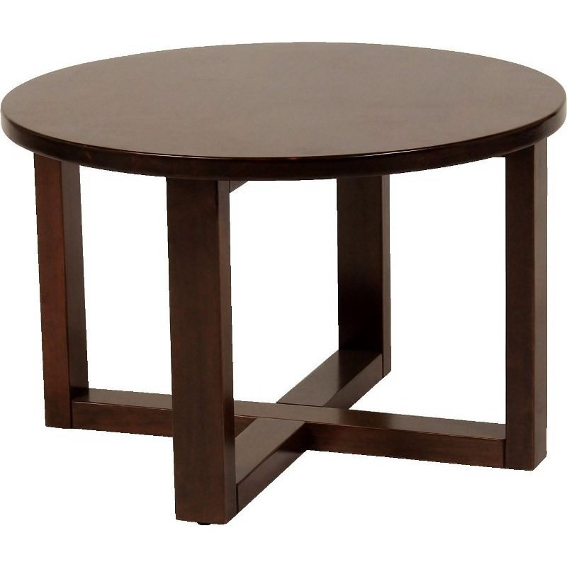 chunk commercial grade 70cm coffee table walnut. Black Bedroom Furniture Sets. Home Design Ideas