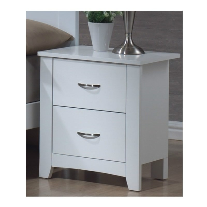 Tayla 2 Drawer Bedside Table White