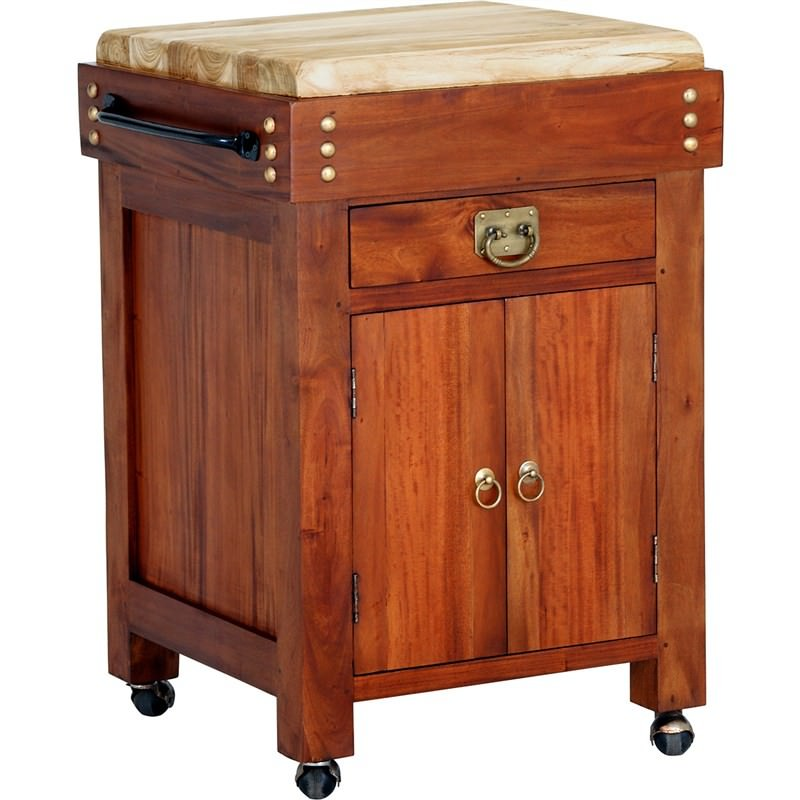 Small Butcher Block Kitchen Island: Cucina Solid Mahogany Timber Small Butcher Block Kitchen