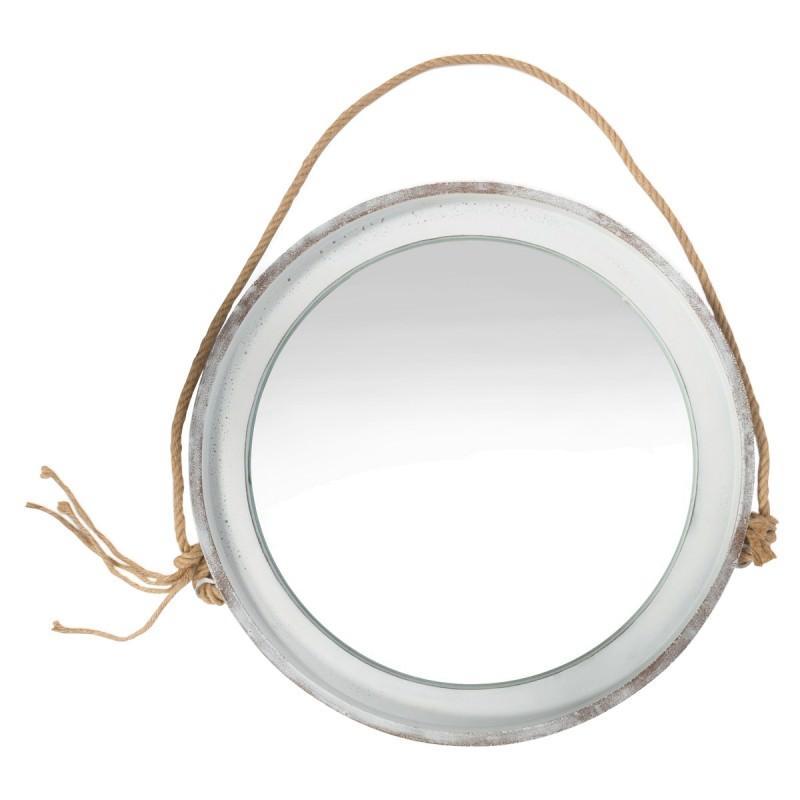 Kona Concrete Frame Round Hanging Mirror Large