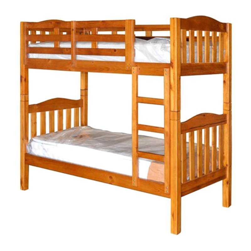 Adelaide Timber King Single Bunk Bed In Chestnut