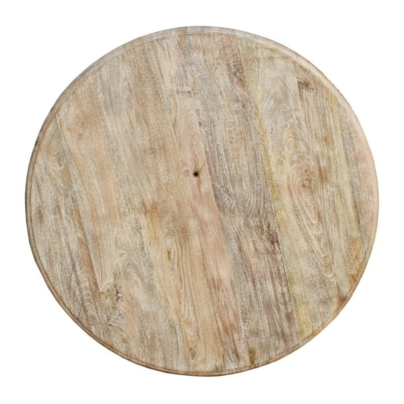 Nettlebridge Solid Mango Wood Timber 120cm Round Dining