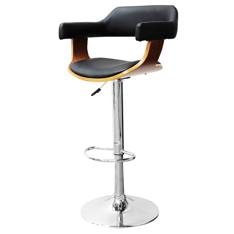 Captains Gas Lift Swivel Bar Chair With Pu Seat