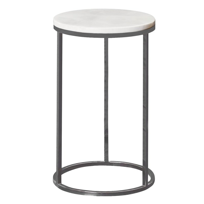 Small Round Coffee Table.Whitney Marble Top Metal Round Side Table Small