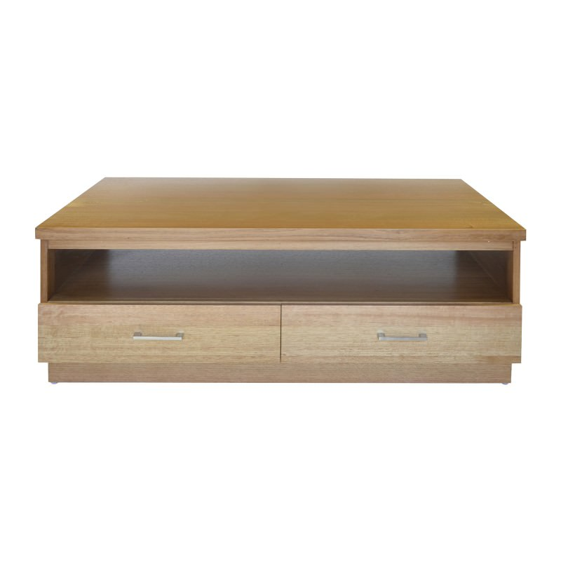 Victorian Ash Coffee Table: Moselia Solid Victorian Ash Timber 2 Drawer 120cm Coffee Table