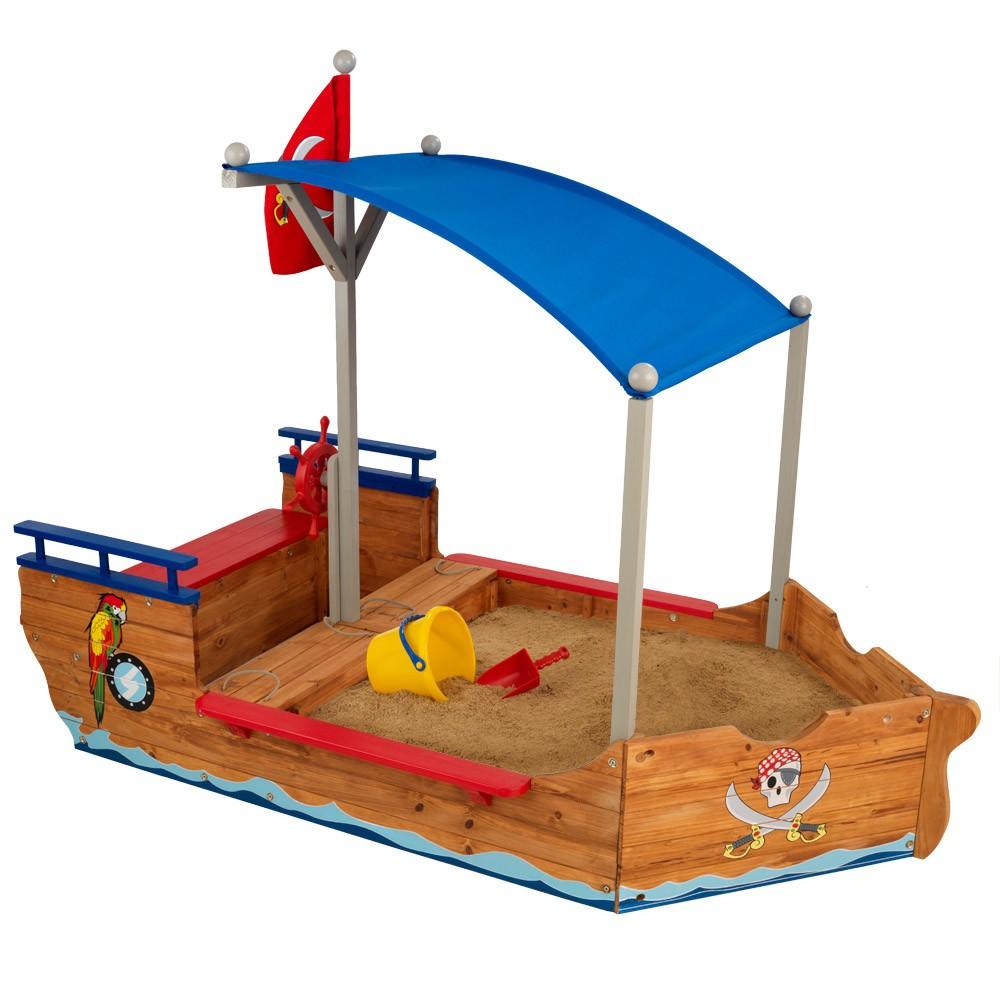 KidKraft Pirate Wooden Sandbox