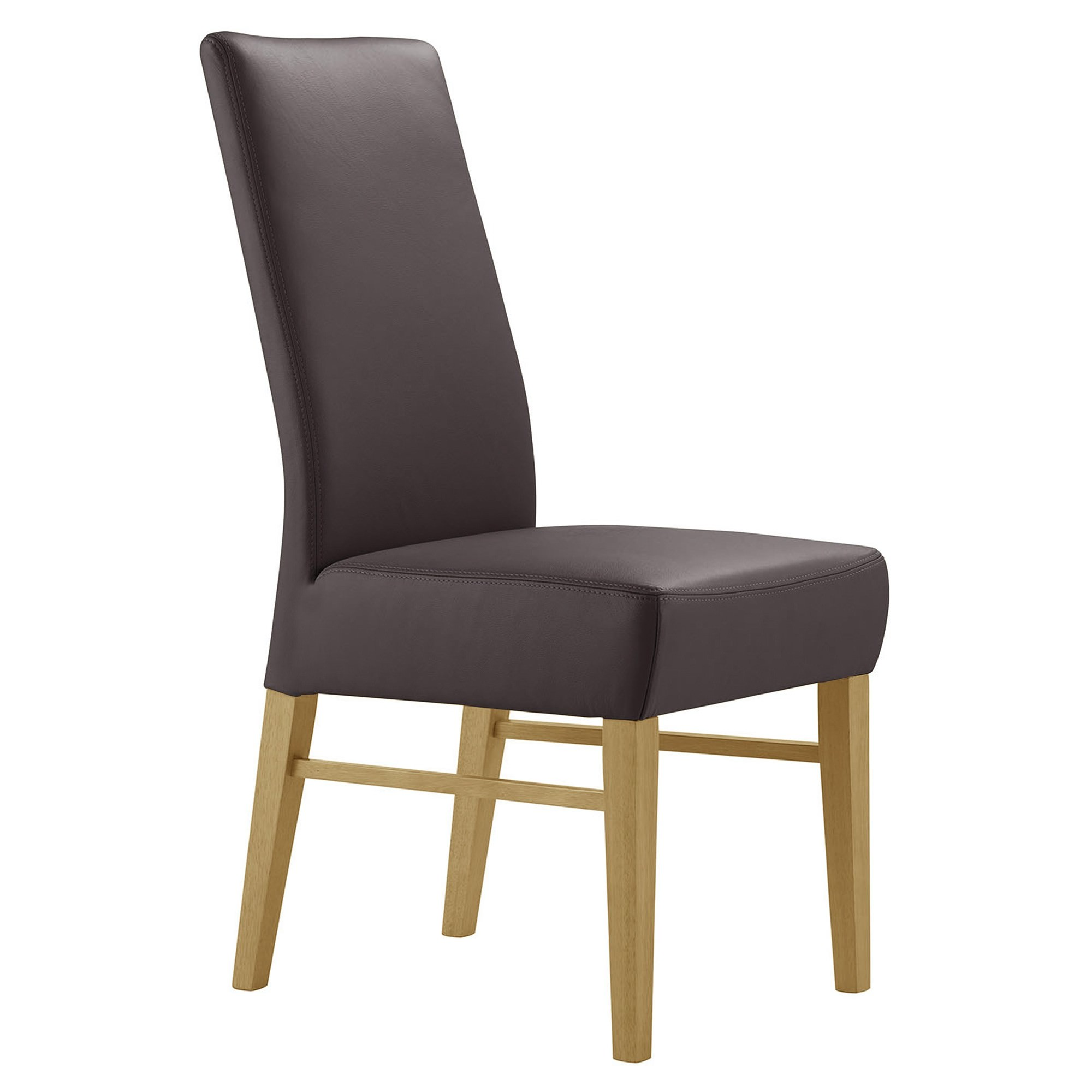 Davos Leather Dining Chair, Brown / Wheat