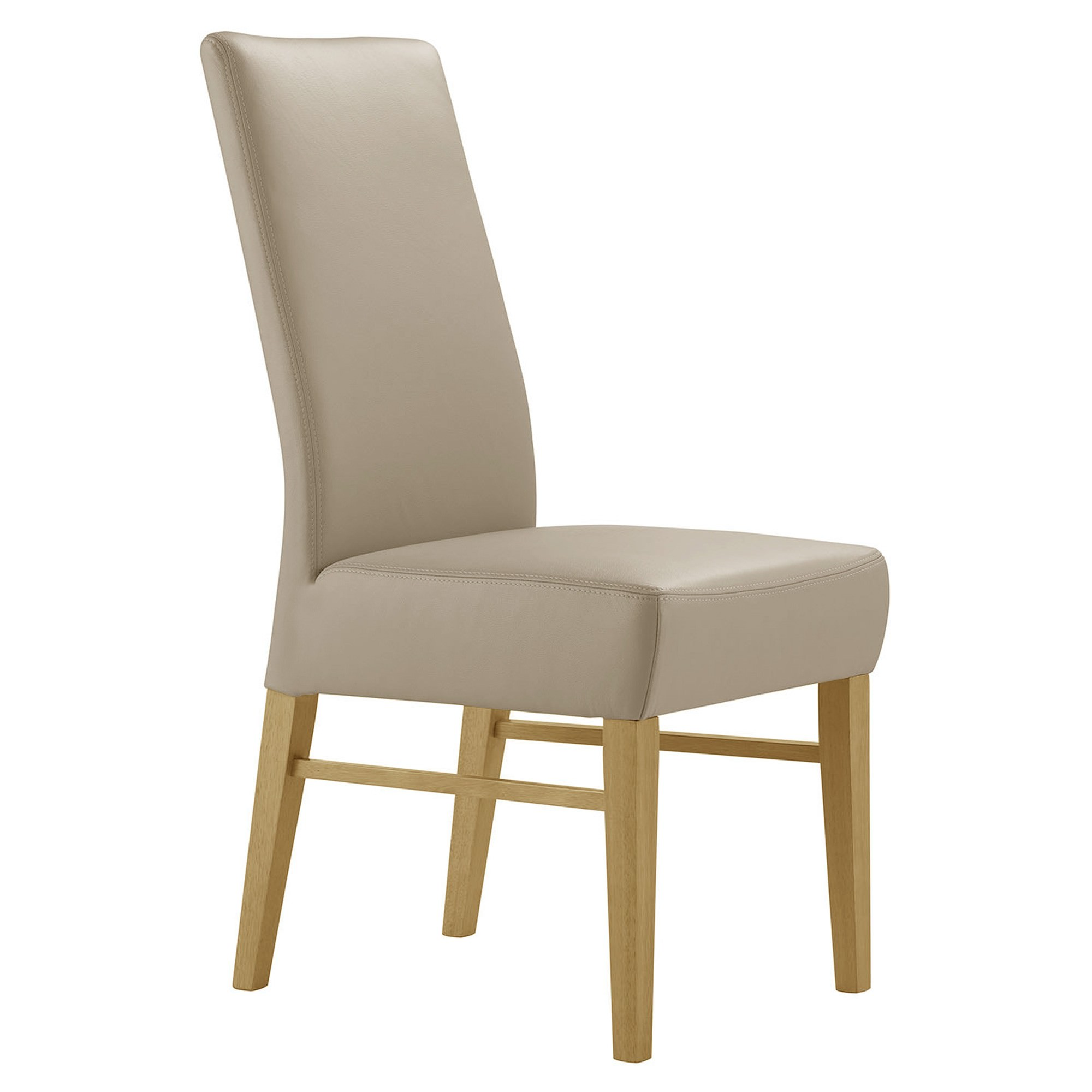 Davos Leather Dining Chair, Mocha / Wheat