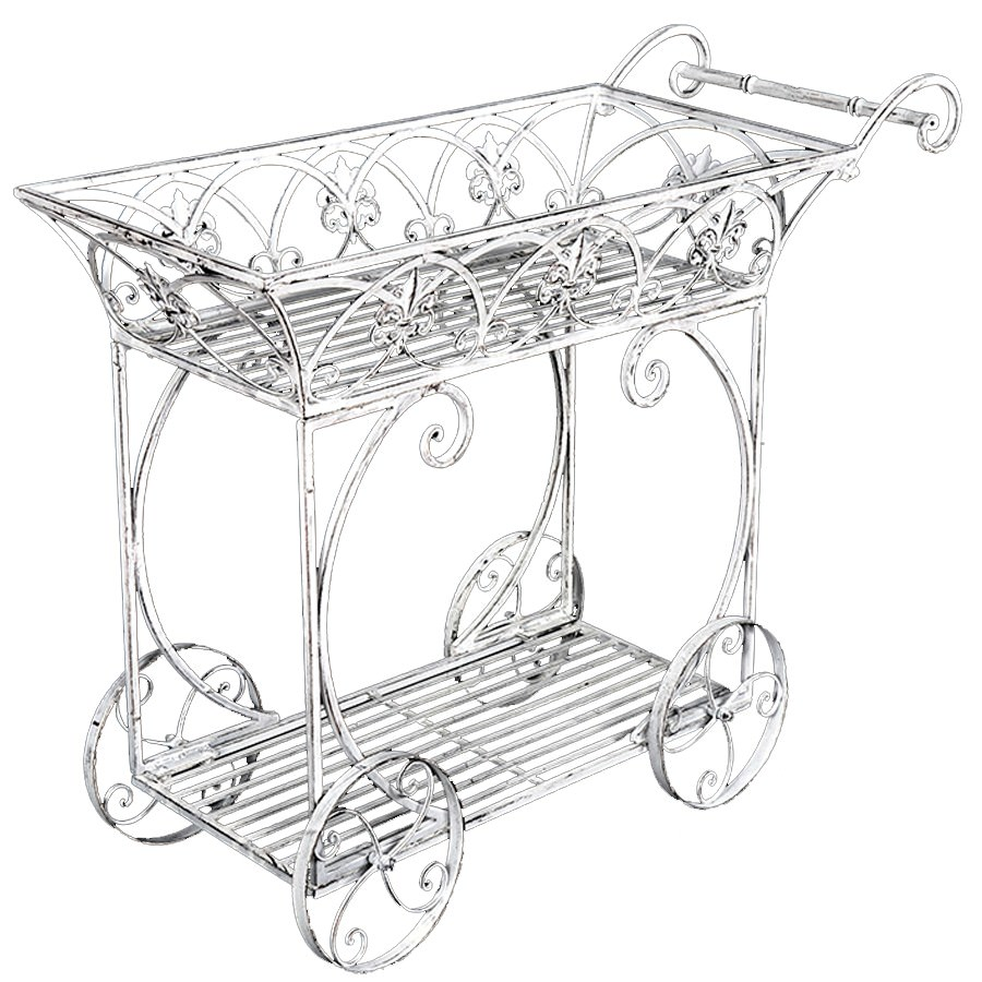 Martinique Iron Garden Cart