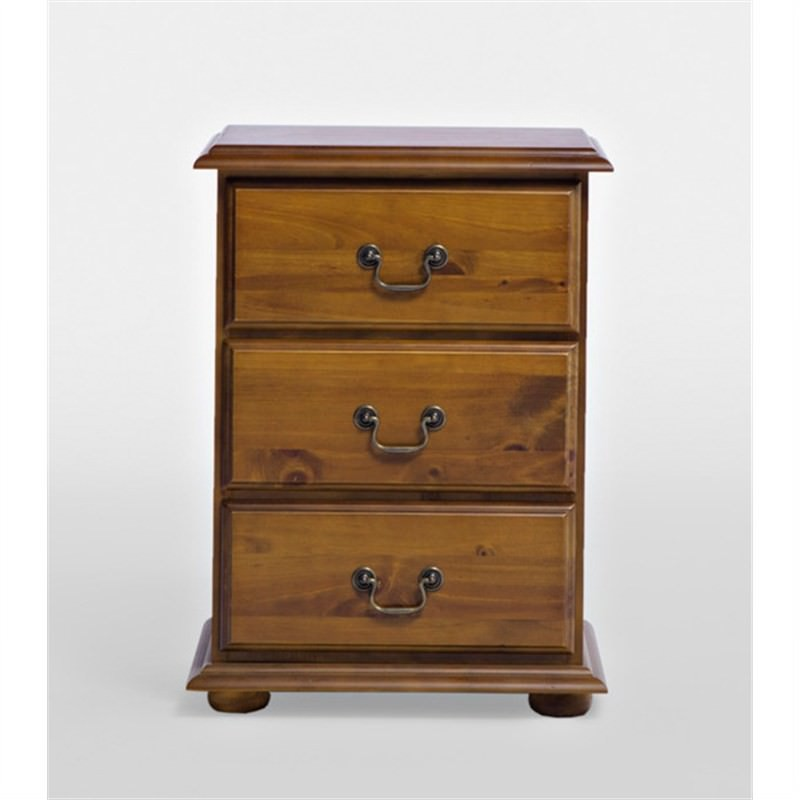 Solid New Zealand Pine Bedside Table