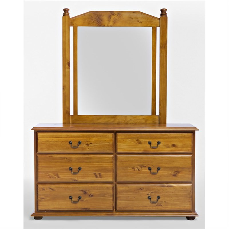 Solid New Zealand Pine Dressing TableandMirror