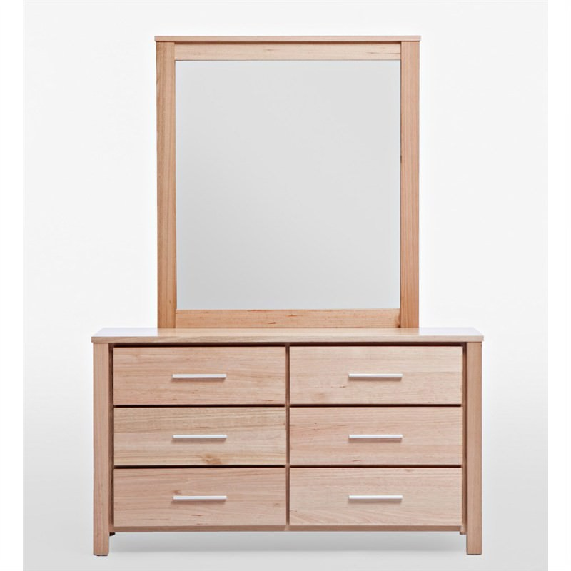Clear Ashwood Dresser and Mirror