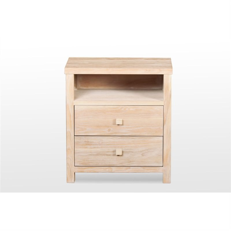 Seaside Chinese Oak Bedside Table