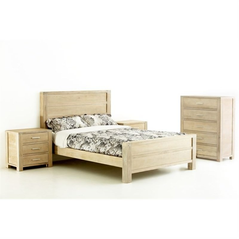 Tribeca Chinese Oak Queen Bed