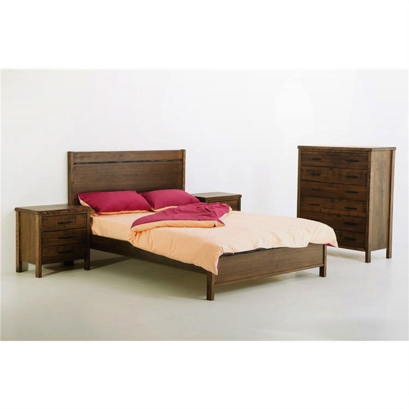 New York Tasmanian Oak Queen Bed