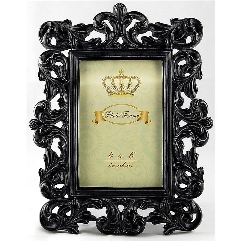 Black Antique Look Photo Frame ( 4''X6'')