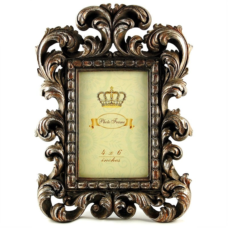 Antique Brass Look Photo Frame ( 4''X6'')