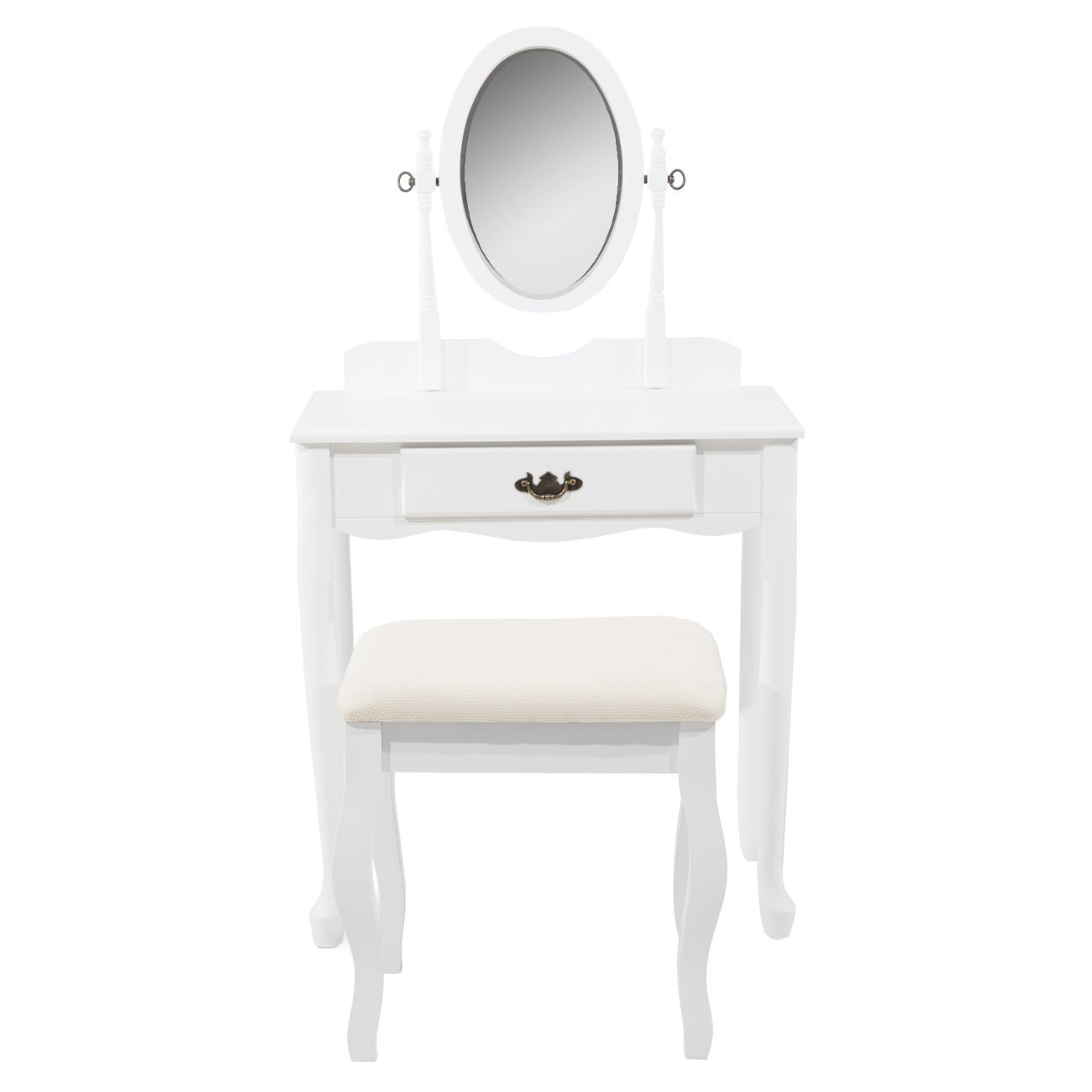 Miley Wooden Dressing Table & Stool Set