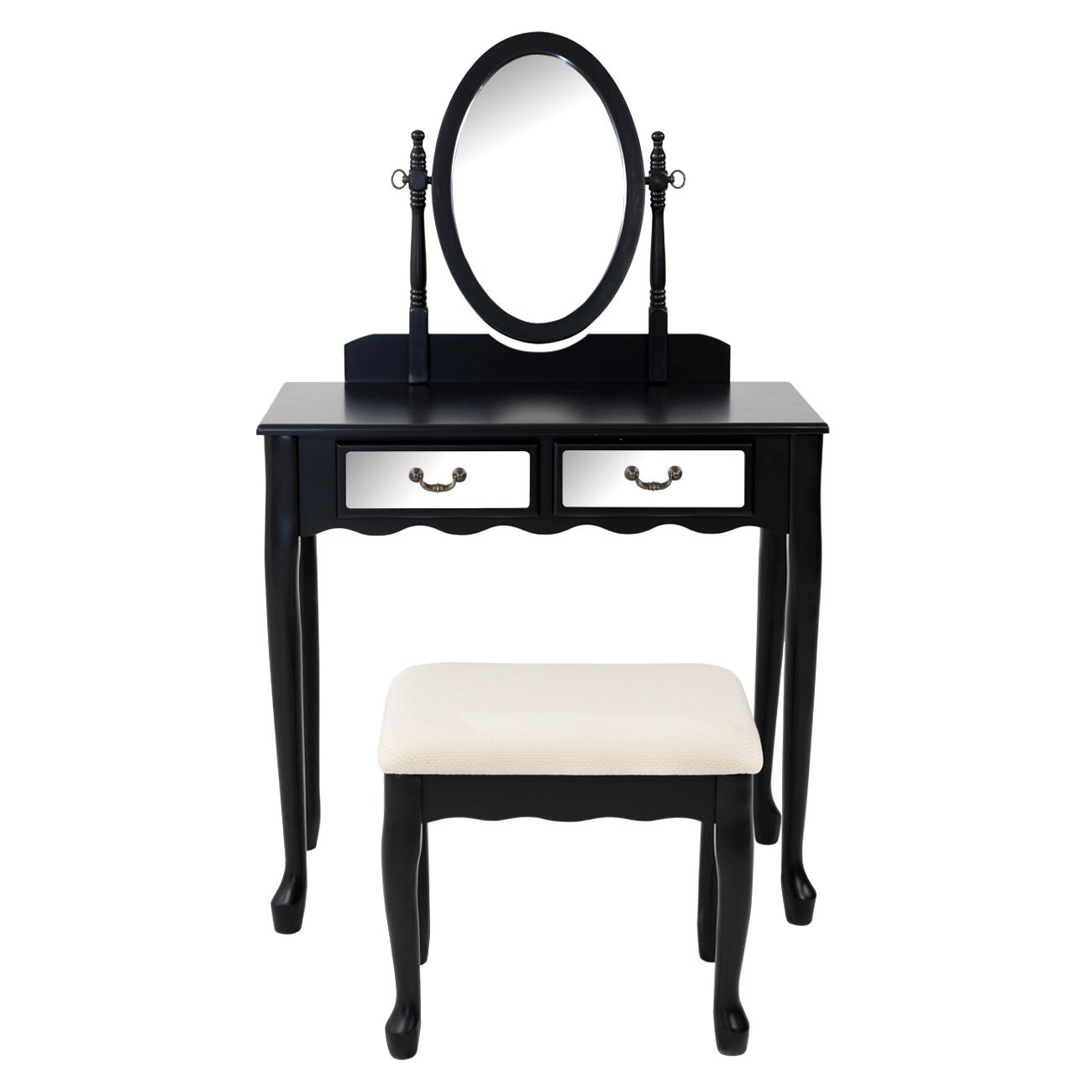 Luna Wooden Dressing Table & Stool Set