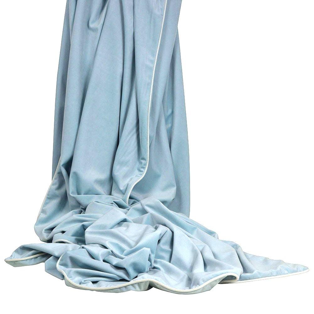 Rodeo Luxury Velvet Throw, Pale Blue