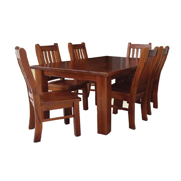Spring 9 Piece New Zealand Pine Timber Square Dining Table Set, 150cm