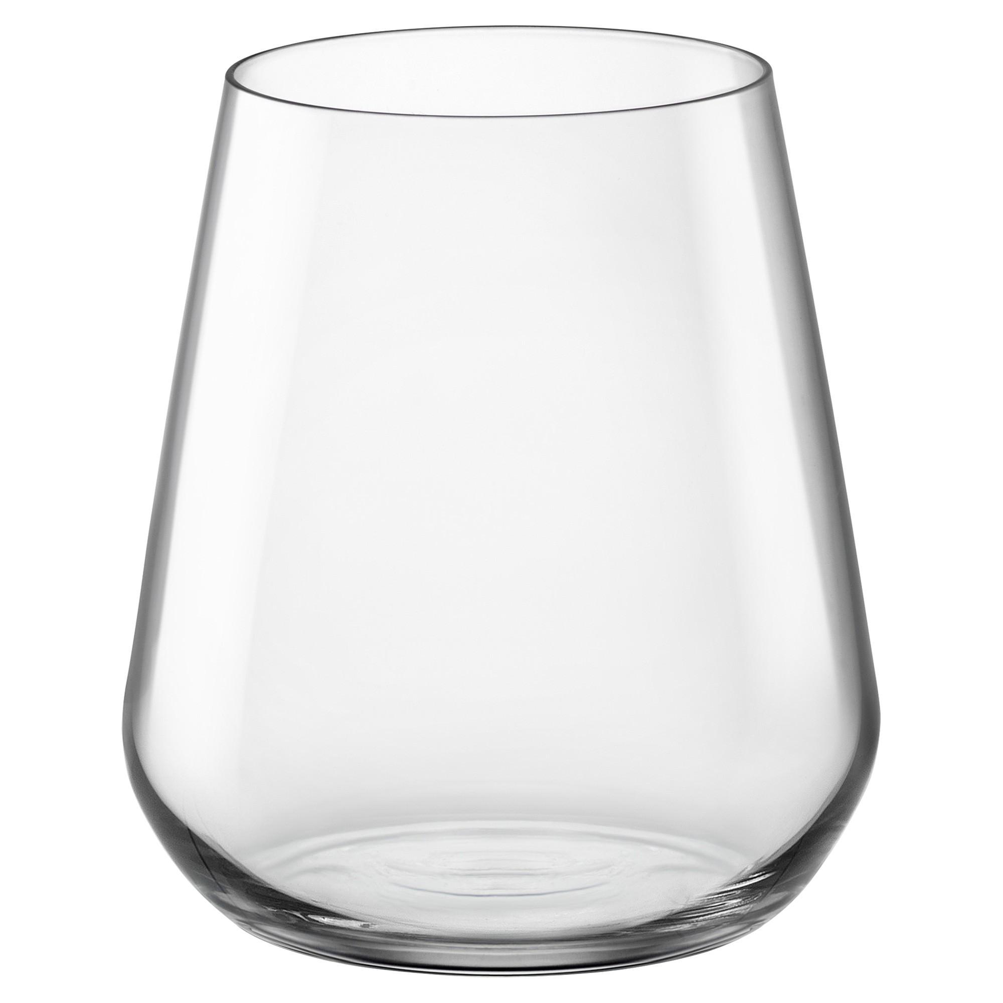 Bormioli Rocco Inalto Uno Stemless Wine Glasses, Set of 6
