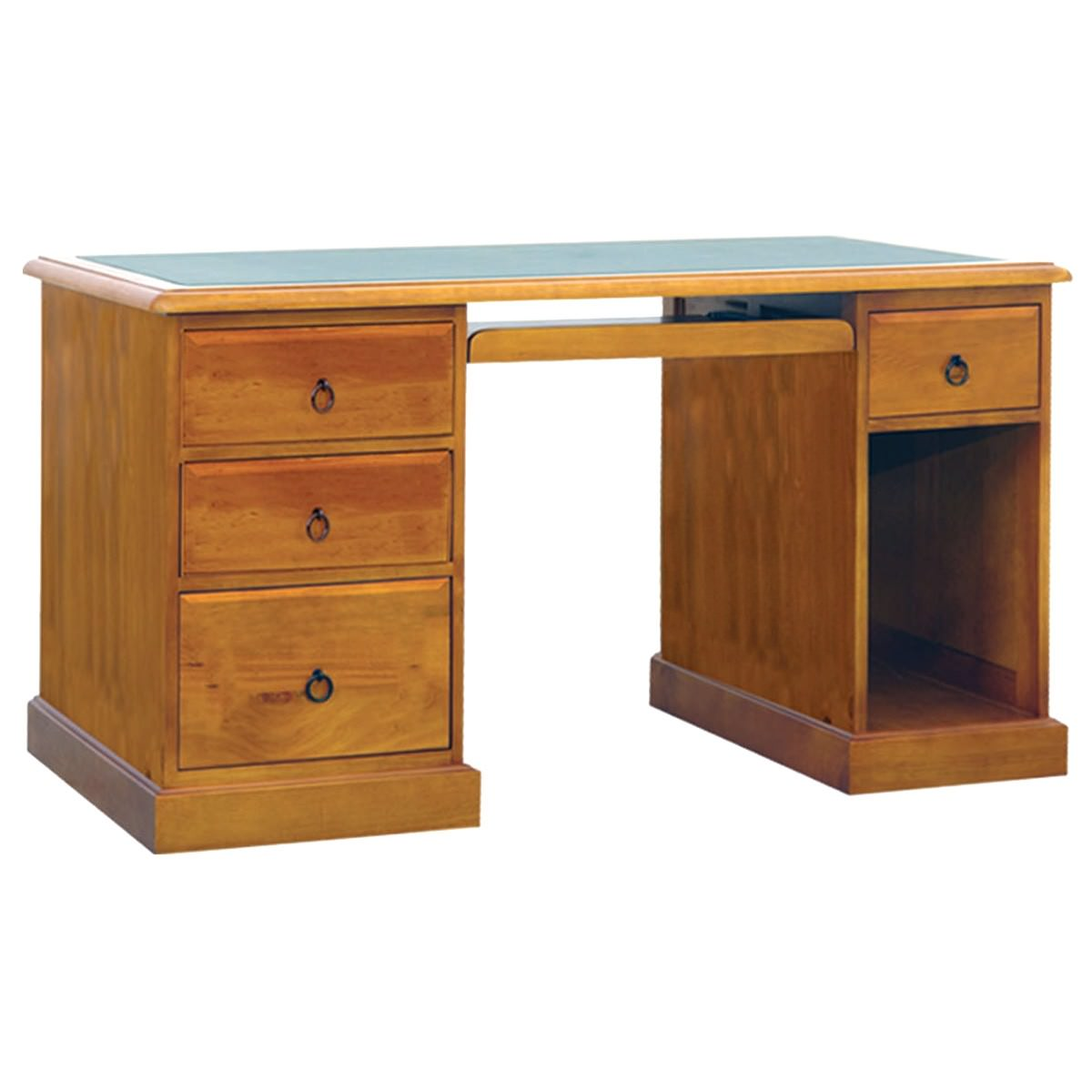 Rebecca New Zealand Pine Timber Desk, 150cm, Blackwood