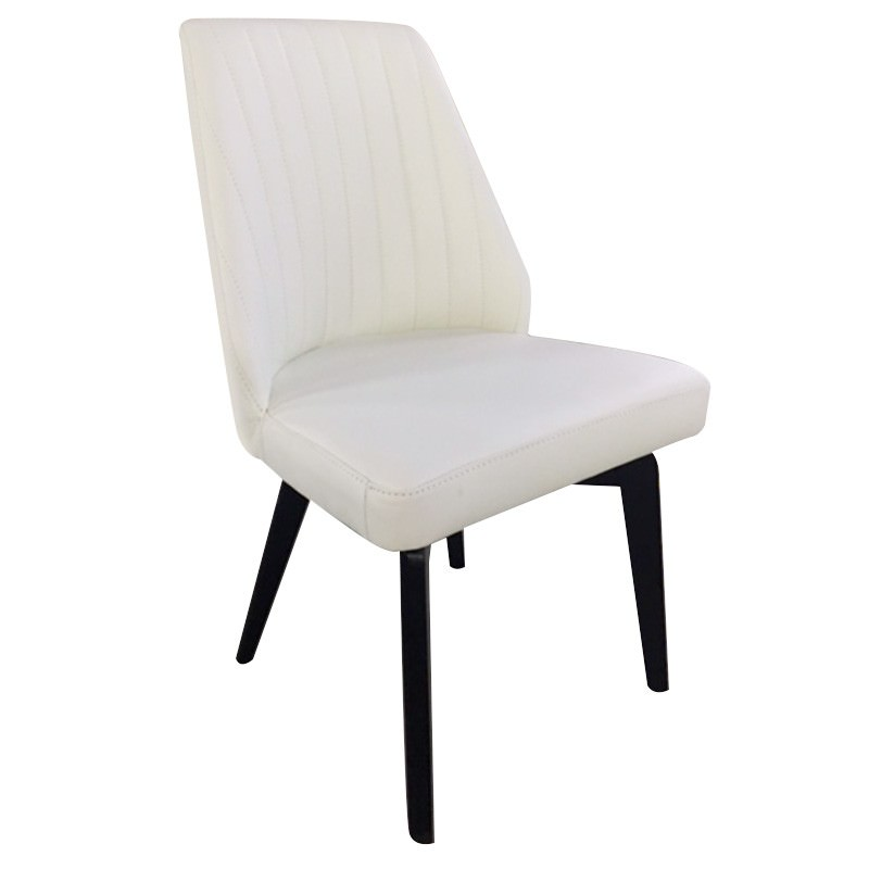 Rudy Leather Dining Chair, White