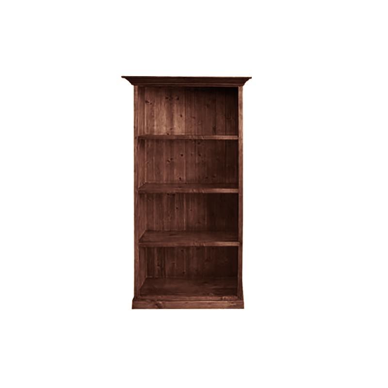 LA New Zealand Pine Timber Bookcase, 90cm, Walnut