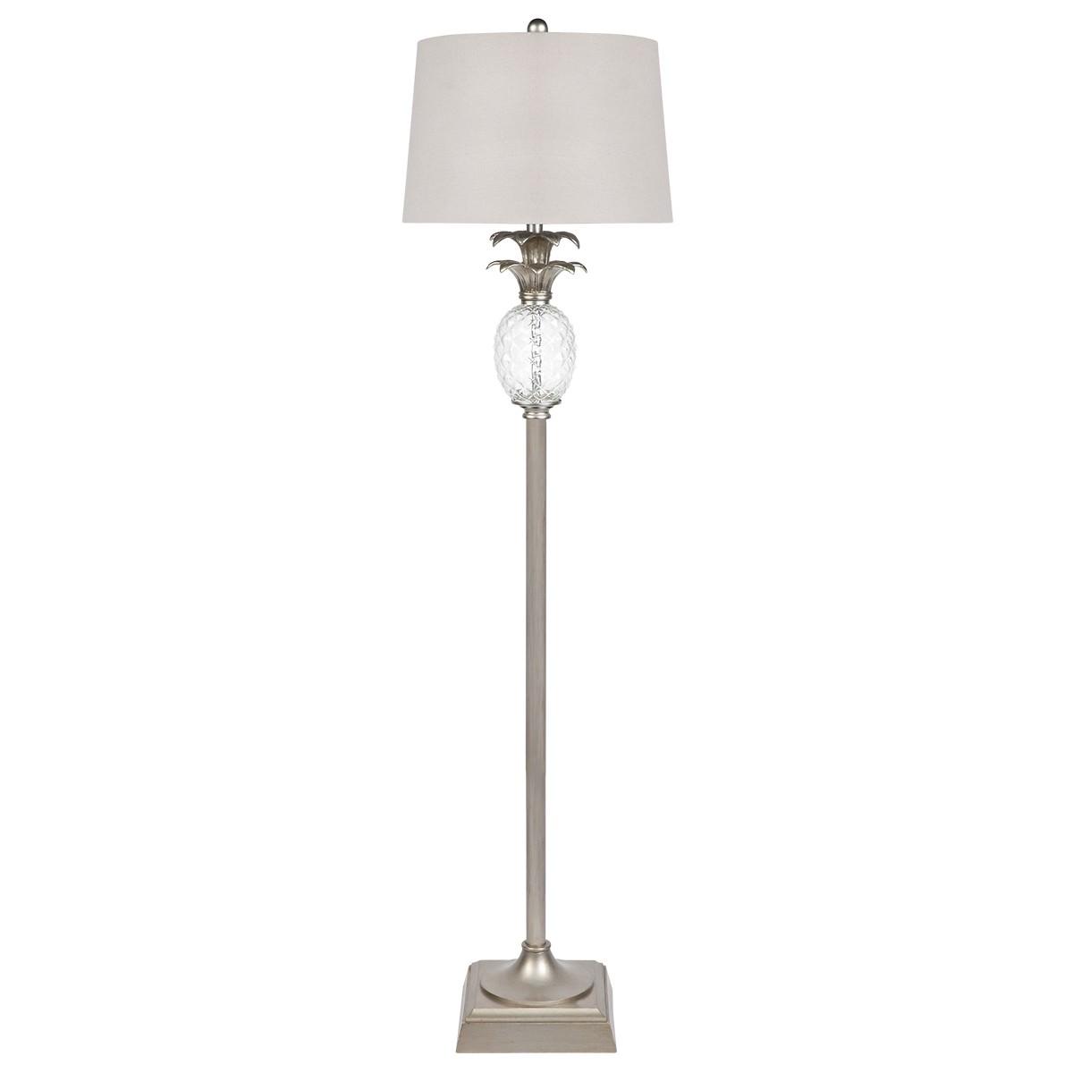 Langley Floor Lamp, Antique Silver