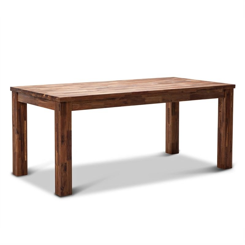 Phillipe 180cm Solid Acacia Timber Dinning Table - Wire Brush Finish