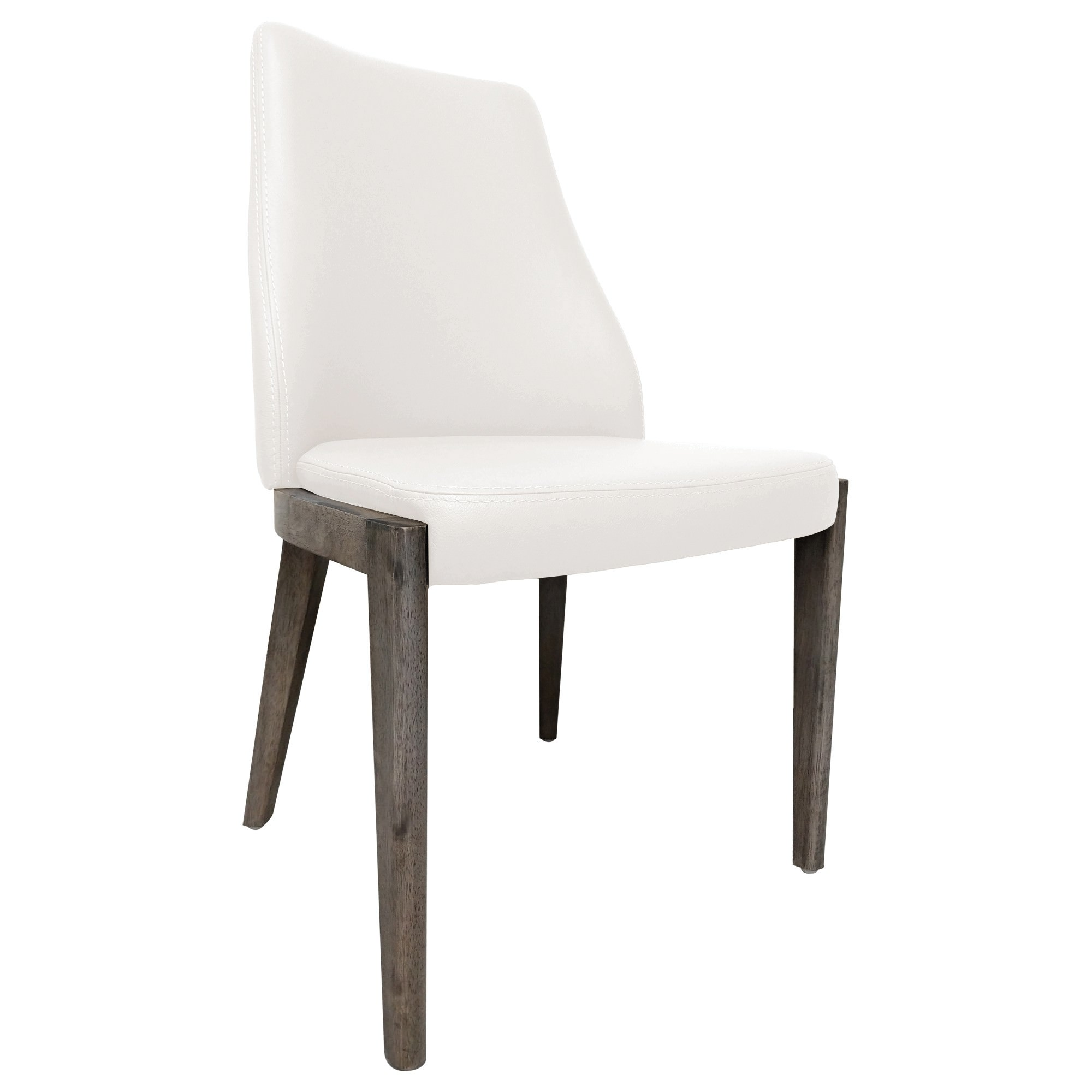 Roger Leather Dining Chair, White