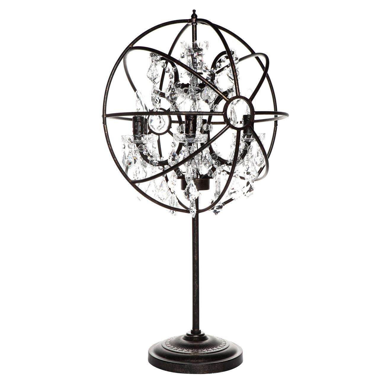 Oscar Iron & Glass Chandelier Table Lamp