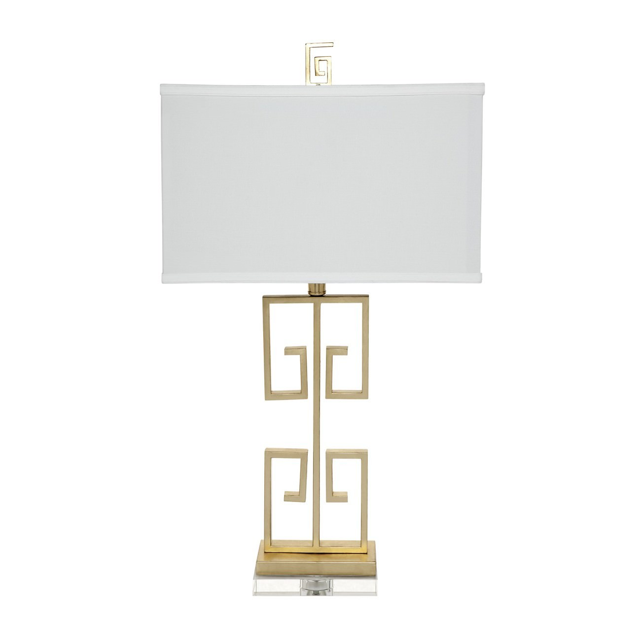 Acropolis Metal Base Table Lamp, Gold