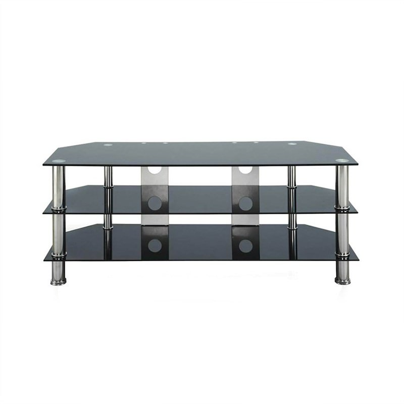 Axton Glass and Stainless Steel 120cm TV Unit