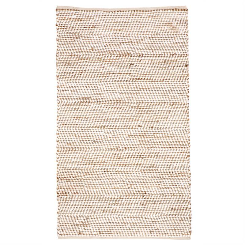 IBIS Hand Woven 120x180cm Cotton and Jute Rug - White/Natural