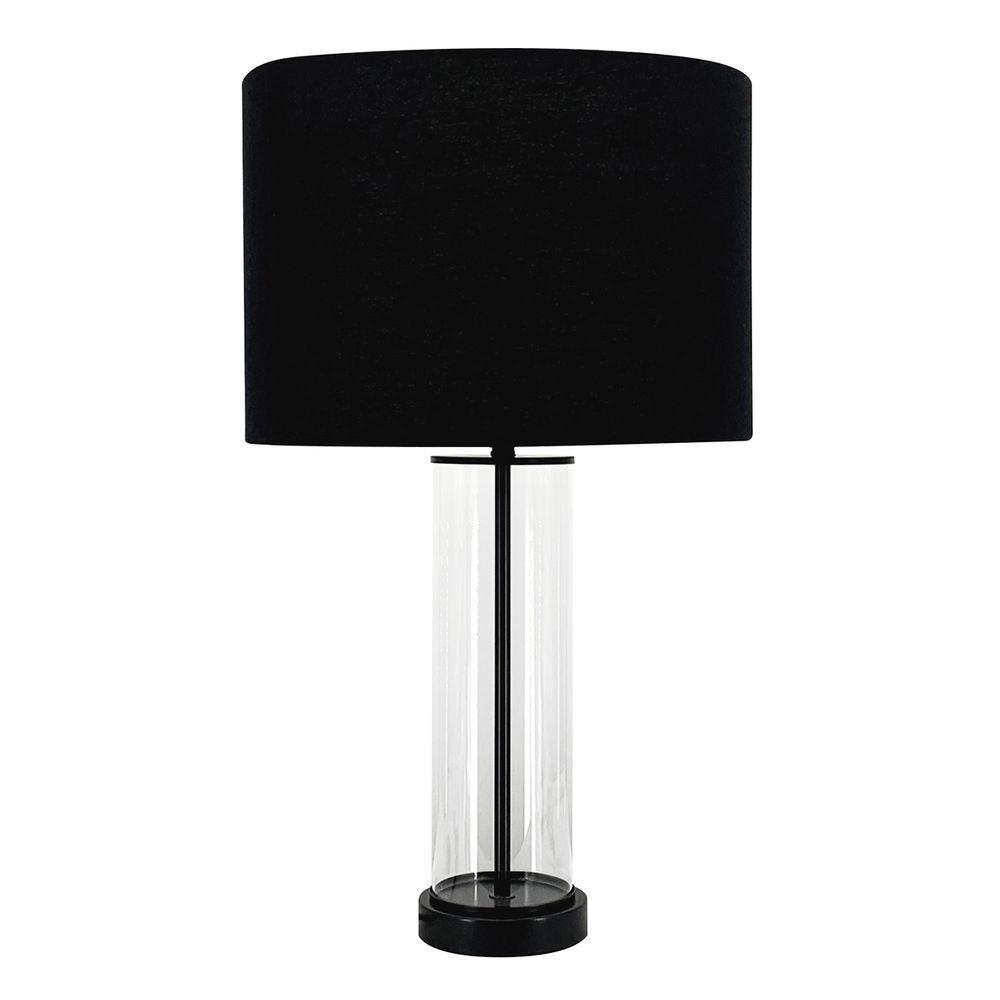 East Side Glass Base Table Lamp, Black