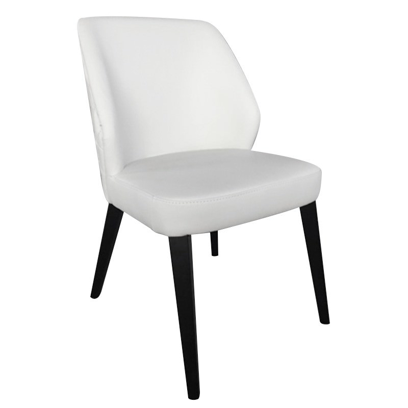 Dora Leather Dining Chair, White
