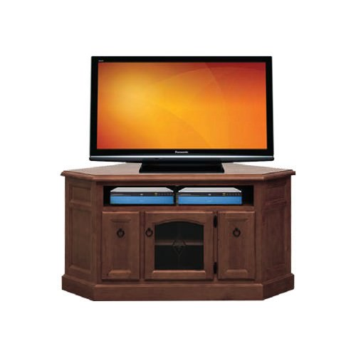 Lawson New Zealand Pine Timber Corner TV Stand, 140cm, Walnut