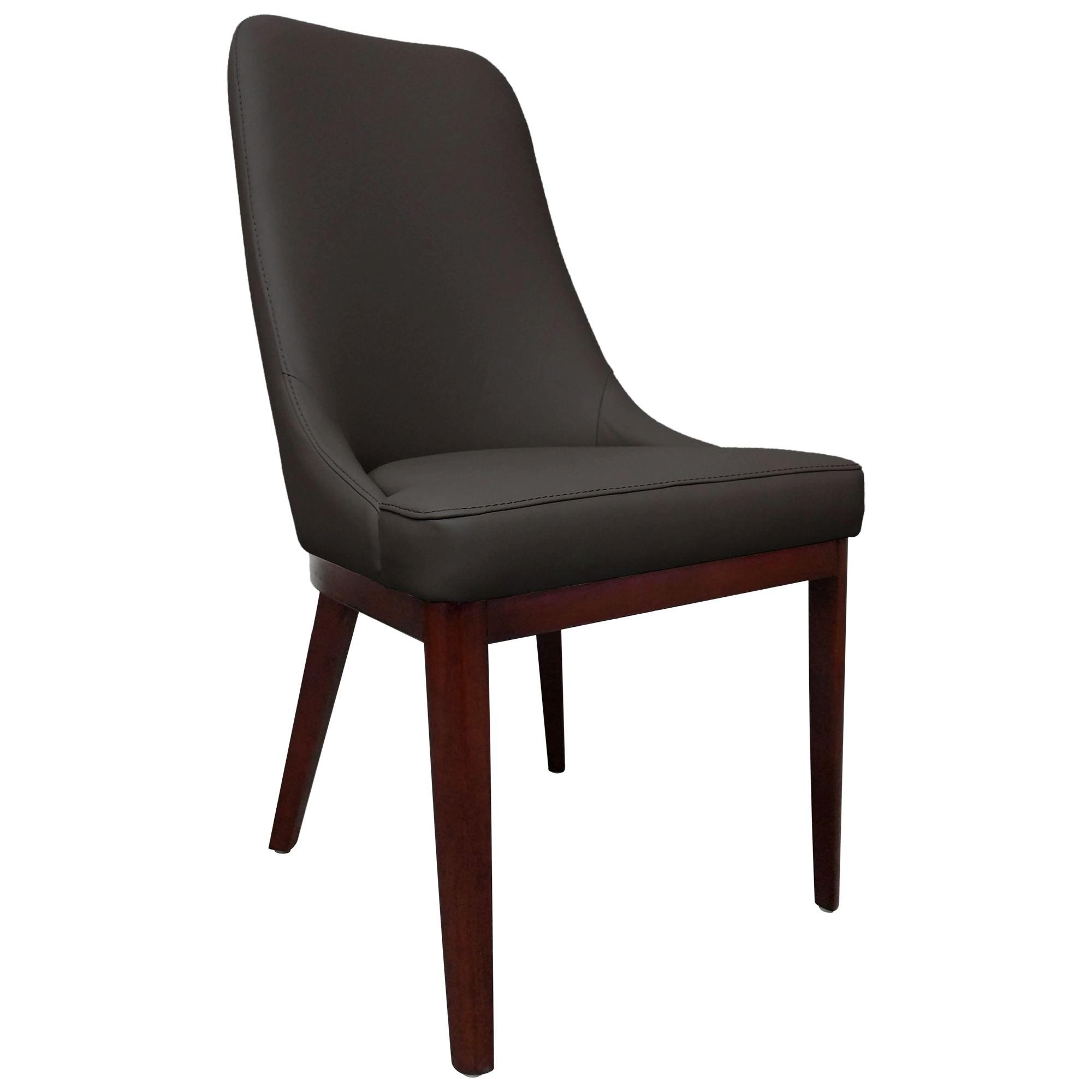 Sarah Leather Dining Chair, Dark Brown