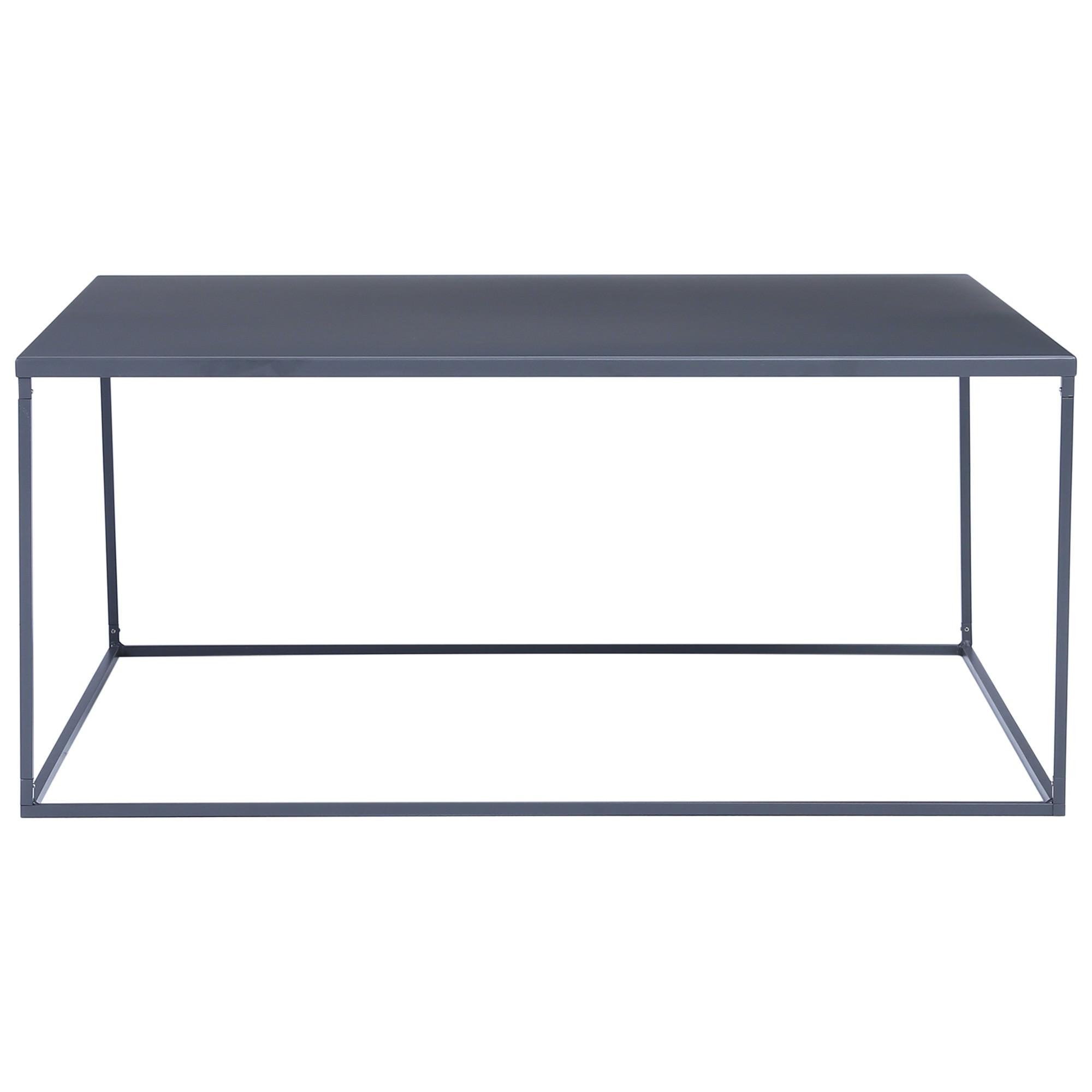 Darnell Metal Square Coffee Table, 80cm, Iridium