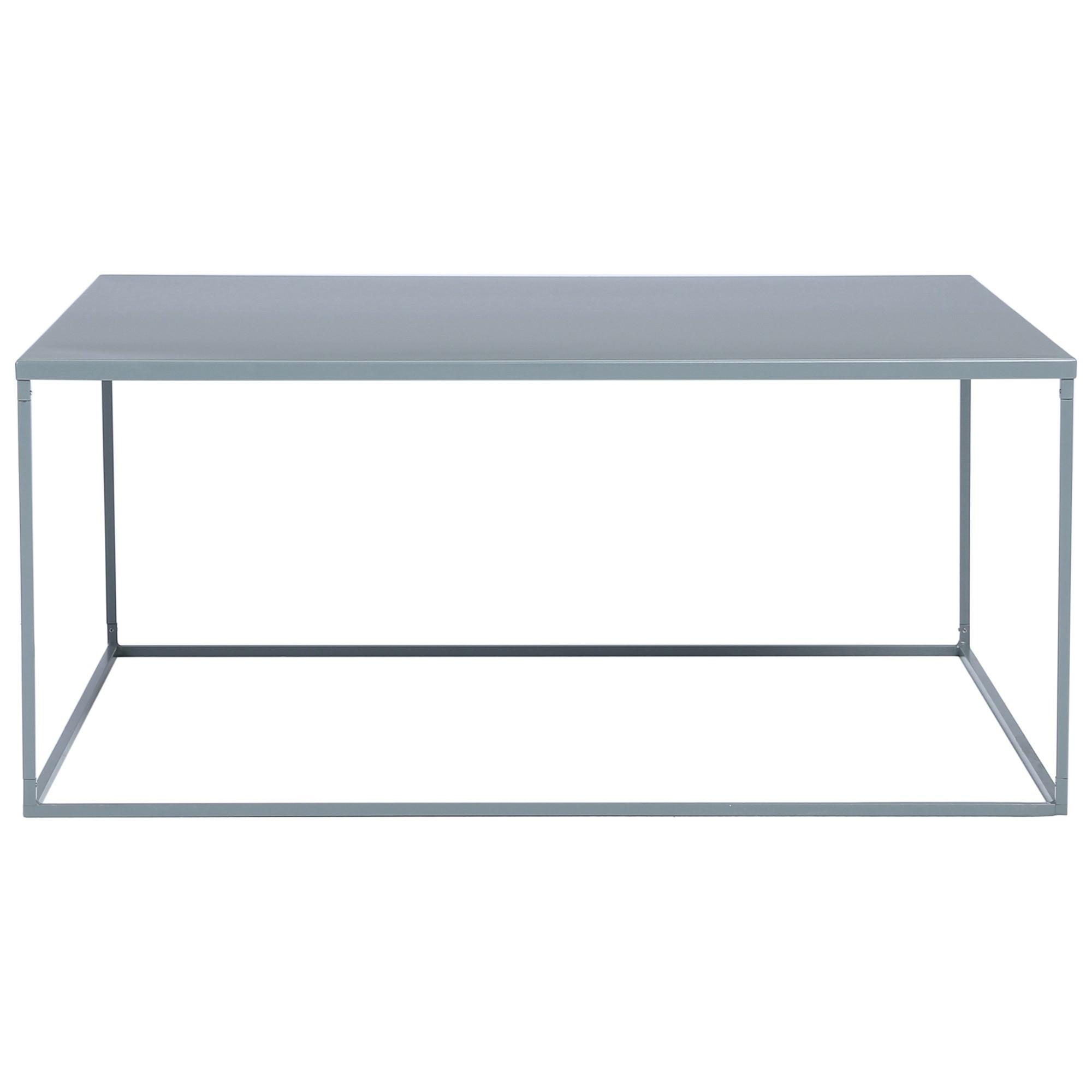 Darnell Metal Square Coffee Table, 80cm, Grey