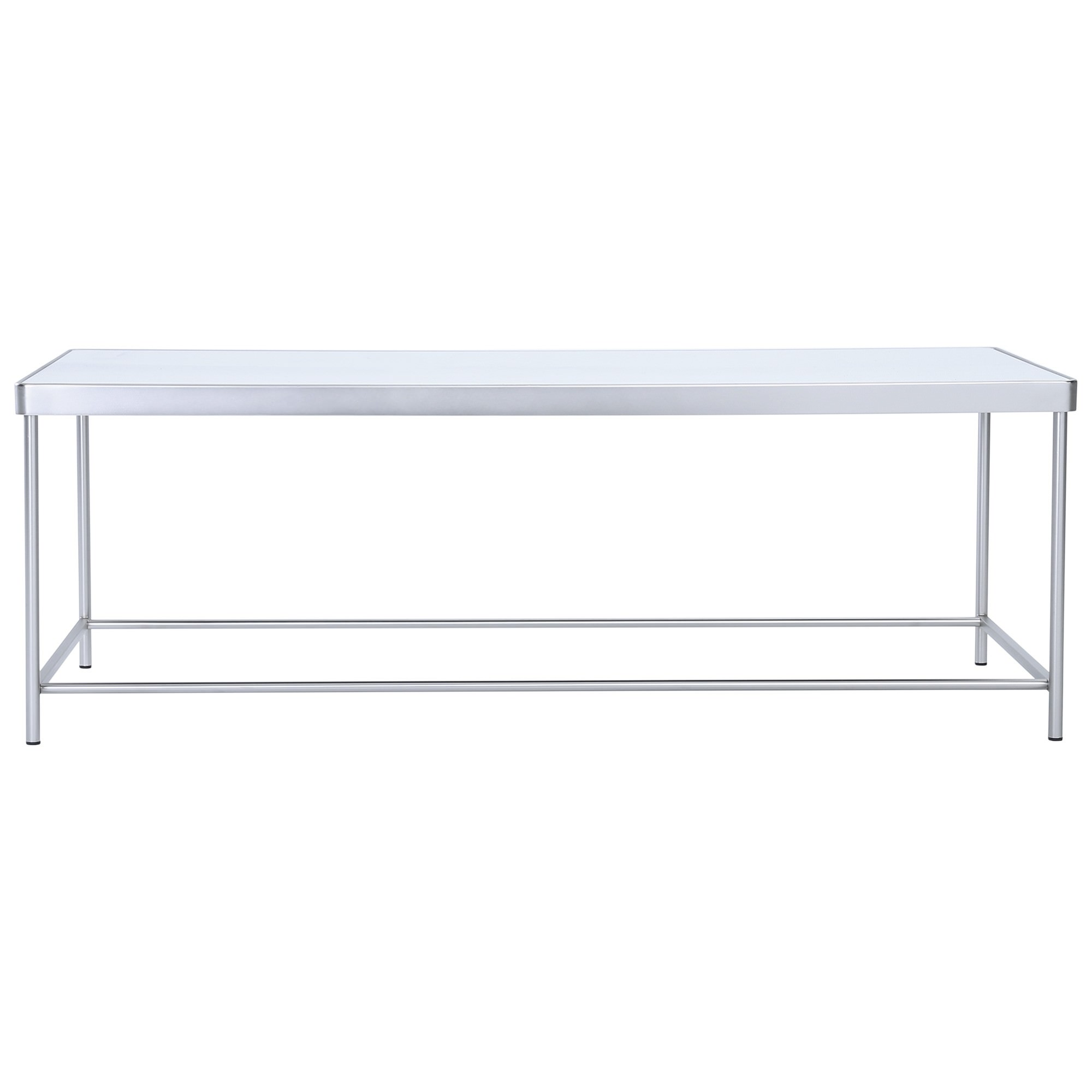 Cameo Mirror Topped Metal Coffee Table, 120cm