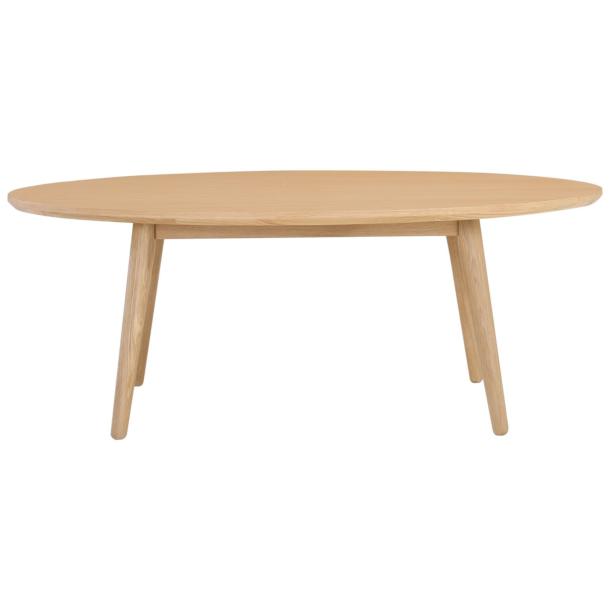 Oringo Commercial Grade Oak Timber Oval Coffee Table, 118cm